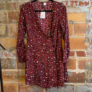 H&M Red Leopard Dress